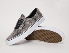 #Vans Era Snake Black Beige #sneakers