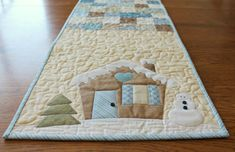 Winter Table Runner Pattern Christmas Table by SpindlesDesigns