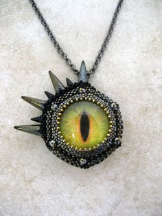 Seeing James Cameron Pendant by Diane Fitzgerald (Bead & Button Show Class 2013) I need to learn to cab!