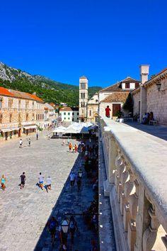 The main square in Hvar Croatia