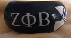 Zeta Phi Beta Z Phi B wood bracelet 1920 by AddiCakeCreations, $7.99