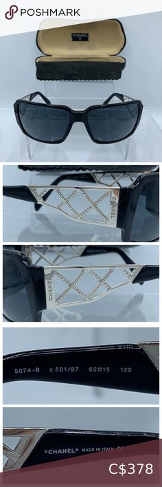 Chanel Diamante 5074 Sunglasses with Crystals Channel Sunglasses, Cat Eye Sunglasses, Round Sunglasses, Sunglasses Accessories, Women Accessories, Chanel Pearls, Black Cat Eyes, Cross Patterns, Black Ballet Flats