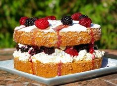 Google Image Result for http://us.123rf.com/400wm/400/400/aquitaine/aquitaine0910/aquitaine091000012/5681988-big-victoria-sponge-cake-filled-and-topped-with-fresh-cream-and-berries.jpg