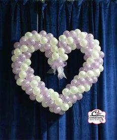 Cuore palloncini per parete o da appendere in lilla e ianco perlato per addobbare in occassione di Matrimonio o Prima Comunione by C&C Creations