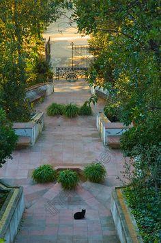Jardins de Laribal Montjuïc (La Font del Gat) Barcelona, Catalonia