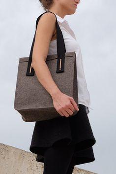 Felt Tote Bag Felt Handbag   Woman Purse  Elegant by Mdirektorbags Womens  Purses ef175e0deb7