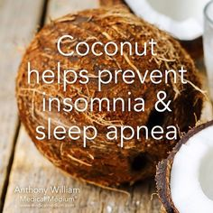 Coconut helps prevent insomnia & sleep apnea Learn more about the healing powers of coconut in Life-Changing Foods, link in profile
