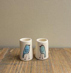 tiny bird vases