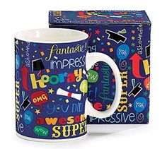Graduate Gift Coffee Mug with Graduation Messages and Matching Gift Box ** You can find out more details at the link of the image.