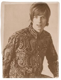 David Bowie in paisley