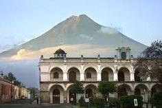 Volcano looming over the town of Antigua, Guatemala...Beautiful...