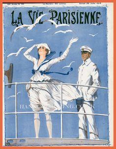 Georges Léonnec (1881 – 1940). La Vie Parisienne, Juillet 1916. [Pinned 22-i-2015]