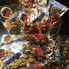 Presents for dear friends -> several kinds of nuts.