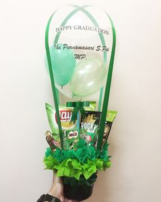 Air balloon snack bouquet