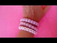 Bracciale con Perle ad Uncinetto -Crochet Bracelet Pearl - Brazalete de perlas crochet - YouTube