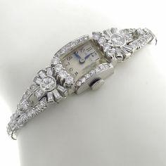 Antique Hamilton 4.00ct Round & Baguette Cut Diamond Platinum Watch - See more at: http://www.newyorkestatejewelry.com/signed-and-designer-pieces/art-deco-4.00ct-diamond-hamilton-watch-/7863/12/item#sthash.bnQFNQwx.dpuf