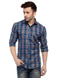 93aa8b460ba Buy Hangup blue men shirt at low prices in India only on Winsant.com