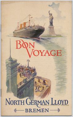 Passanger list from North German Lloyd Bremen, SS Sierra Ventana - sailing July 30, 1927 from Hoboken NJ to Bremen, Germany.  (Hoboken Historical Museum)