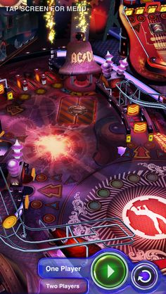 AC/DC Pinball Rocks for iPhone 5: Before you play, watch the beautiful table flyover video in the main menu! #acdc #pinball #rocks #iphone #retina
