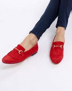 3f2089730ae Office Furious Fringed Flat Suede Loafers. ASOS