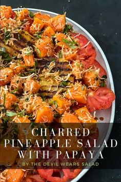 No better way to hone in on those succulent summer fruits then creating a quick pineapple salad to die for. Complement it with sweet red papaya, toasted coconut and juicy heirloom tomatoes. Quick Salad Recipes, Salad Dressing Recipes, Toasted Coconut, Shredded Coconut, Pineapple Salad, Coconut Curry, Heirloom Tomatoes, Easy Salads, How To Make Salad
