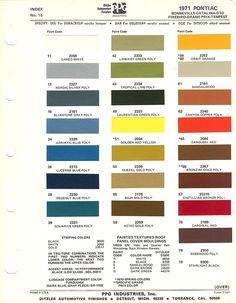 1971 PONTIAC TEMPEST GTO FIREBIRD BONNEVILLE GRAND PRIX ++ PAINT CHIPS