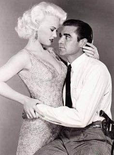 THE BEAT GENERATION (1959) - Steve Cochran & Mamie Van Doren - Directed by Richard Matheson - MGM - Publicity Still.