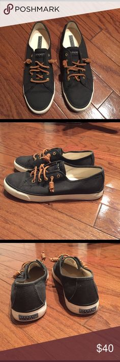 Sperry Top-Sider Seacoast Canvas Shoe Black canvas sperry, perfect to wear spring through fall. Worn a handful of times and I thought they were very comfortable. Sperry Top-Sider Shoes Sneakers