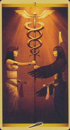 The Sacred Feminine Deck is truly gorgeous and it combines 4 different mythologies: Egyptian, Celtic, Nordic, and Greek. Amazing! This is from the Egyptian suit.  Tarot of the Sacred Feminine - Floreana Nativo, Franco Rivolli