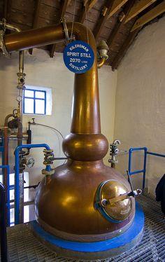 Distiller in Kilhoman - Bunnahabhain Whiskey Distillery, Islay, Scotland