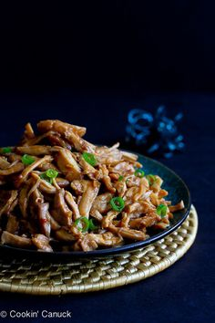 Slow Cooker Hoisin Chicken Recipes...Fantastic flavor with only 112 calories and 3 Weight Watchers SmartPoints per serving! #crockpot #healthy