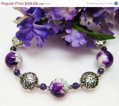 SALE Purple Bracelet  Amethyst Bracelet  by MyGemstoneDesigns, $22.40