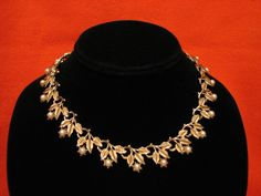 Vintage Coro Gold Tone and White Faux Pearl Beaded by ditbge, $26.00