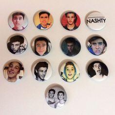 Nash Grier  Cameron Dallas & Matthew Espinosa Button by MoonGlare