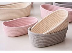Crochet Rope Basket makes great storage units when in need. It will be a perfect addition to organize small goodies around your house!