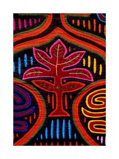 Mola by Kuna Indians San Blas Islands- reverse applique