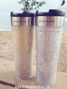 glitter travel mug DIY