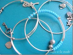 Crafts a la Mode How to make silver adjustable bracelets  http://www.craftsalamode.com/2013/08/diy-adjustable-silver-bracelets-anyone.html