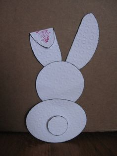 Easter Bunny made w/ Creative Memories Custom Cutting System w/ Oval & Circle Patterns & Embossed 12x12 Paper.