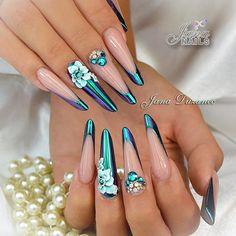 Chrome nails & plastelin gel nail art for my beautiful friend #jana #jananails #jnnails #chromenails #chromenailart #3dnailart #3dnails #swarovskinails #handmade #nails #nailart #nailartclub #nails2inspire #nailsoftheday #nailstodiefor #nailsofinstagram #nailprodigy#nailporn #nailpromag #unghiemania #unghiedecorate #nageldesign #nageldekoration