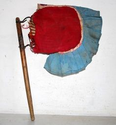 Vintage Old Wooden Cloth Hand Crafted Hand Use Fan