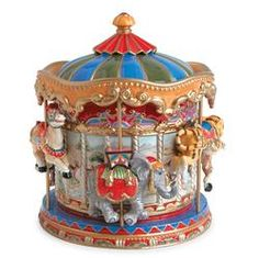 Fitz and Floyd Signature Collection Carousel Cookie Jar
