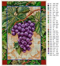 Punto croce - Schemi e Ricami gratuiti: I motivi piu belli a punto croce di frutta e verdura