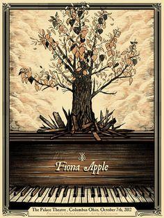 fiona apple gig posters   Fiona Apple, by Zeb Love