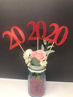 Excited to share this item from my #etsy shop: Birthday Centerpiece, 20th Anniversary, 20th Celebration, 20th Birthday, 20th class reunion, Class of 2000, 20th Caketopper, 20th Decoration Birthday Party Centerpieces, Birthday Decorations, 20th Birthday, Glitter Cardstock, 20th Anniversary, Cake Toppers, Card Stock, Celebrities, Sticks