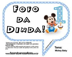 Plaquinhas Divertidas Mickey Baby:
