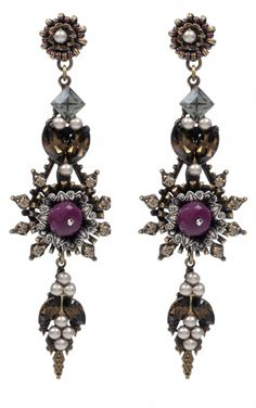 miriam haskell pomegranate earrings
