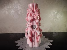 Hochzeitskerze (maxi ca.17-21 cm.) von Lenz  Kerzen auf DaWanda.com