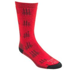 Farm to Feet Socks: Red 8578 601 Cokeville Men's Midweight Crew Hiking Socks