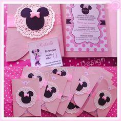 Tarjeta de invitación Minnie